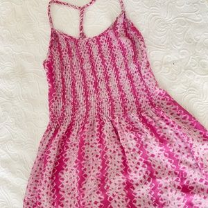 Banana Republic pink printed sundress